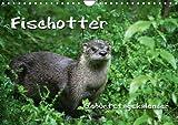 Fischotter Geburtstagskalender (Wandkalender immerwährend DIN A4 quer): Geschickte Fischjäger (Monatskalender, 14 Seiten) (CALVENDO Tiere) [Kalender] [Oct 10, 2013] B, M
