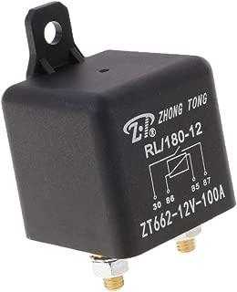 ESUPPORT 3Pcs Universal Transparent Car Truck Auto DC 12V 80A 80 AMP SPDT Relay Kit Socket Plug Wire 5P