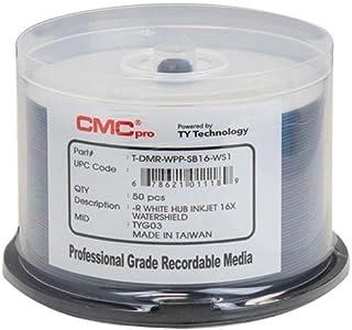 Taiyo Yuden 600 CMC Pro 16X DVD-R 4.7GB Water Shield White Inkjet Hub Printable