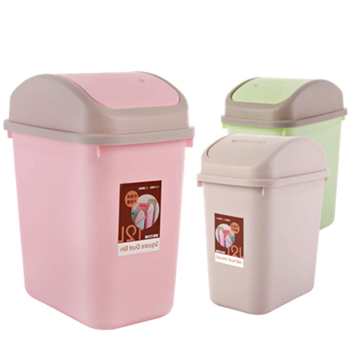 Bathroom Trash Can with Lid Toilet Household Press Trash Can with Lid Home Living Room
