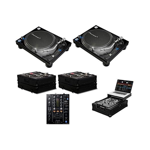 2x Pioneer PLX-1000 + DJM-450 + Black Label Cases + Glide Style Case