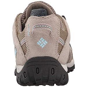 Columbia Women's Redmond Waterproof Hiking Boot, Pebble, Sky Blue, 7.5 Regular US