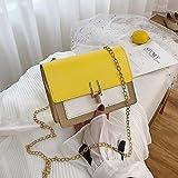 Mdsfe Mini Bolsos de Hombro de Cuero de PU para Mujer, Bandolera de Tassen, Bolso de Moda, Mensajero, Portemonnees, Monedas de Voor Vrouwen para Mujer, Bolso Amarillo