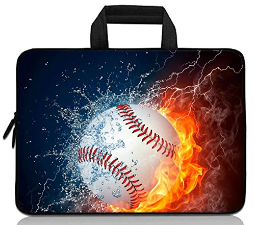 RUYIDAY 11 11.6 12 12.1 12.5 inch Laptop Carrying Bag Chromebook Case Notebook Ultrabook Bag Tablet Cover Neoprene Sleeve Fit Apple MacBook Air Samsung Acer HP DELL Lenovo Asus (Baseball)