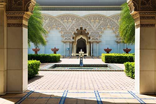 Fototapete selbstklebend | Marokkanische Architektur | in 150x100 cm | Bild-tapete Moderne Wand-deko Dekoration Wohnung Wohnzimmer Wandtapete | 17321