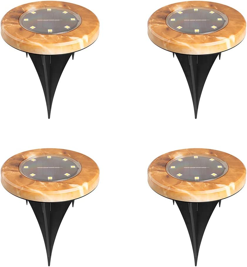NEW before selling Bling Solar Ground Lights Disk 8 LED New product Outdoor
