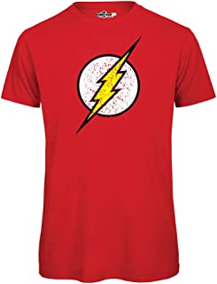 c13913c931 KiarenzaFD - Camiseta T-Shirt Sheldon Lightning Cooper Big Bang supereroi  Fan Theory de Manga