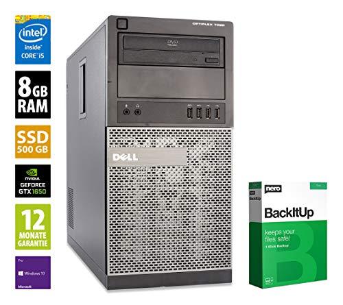 Dell OptiPlex 7020 MT - Core i5-4590 @ 3,3 GHz - 8GB RAM - 500GB SSD - DVD-RW - Nvidia GTX 1650 - Win10Pro (Zertifiziert und Generalüberholt)