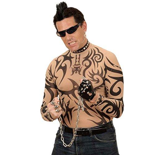 Amakando Chevelure Punk Rock IRO Perruque Iroquois Noir avec Clip Cheveux Rockeur Toupet IRO Rock Music Biker