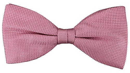 TigerTie Fliege in pink rosa einfarbige Punktstruktur - Fliege 100% pure Seide