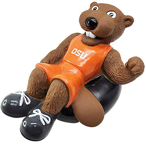 Rubber Tubbers Oregon State University - Premium Bath Toy Collectible Sports Memorabilia - First Ever Collectible Line of Licensed Floating Collegiate Mascots (Oregon State Beavers | Benny Beaver)