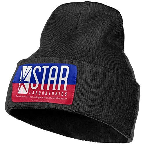 zhenzhou Star Laboratories S.T.A.R. Labs Strickmütze Warme Hüte Mütze Schädelkappe Winter Täglich Mütze Strumpfhut