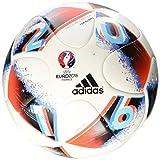 adidas Euro16 Top Glider Fußball, White/Bright Blue/Solar Red/Silver Metallic, 5
