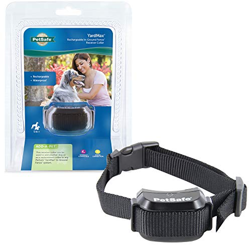 PetSafe YardMax Rechargeable, Waterproof Receiver Collar Only for Dogs and Cats Over 5 lb, Tone and...