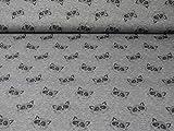 Baumwolljersey von Hilco, Waschbären, grau (ab 25cm x