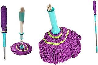 Cleano Microfiber Twist Rotating Floor Cleaner Mop, Microfiber Twist Tornado Mop Dust Mop with Wringer Self-Wringing Blue-...