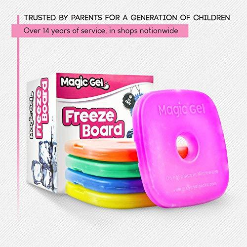 Magic Gel (マジックジェル) 保冷材5個入りセット お弁当やクーラーバッグ用 – アイスフリーザーブロック (小型ながら冷却時間が長持ち) - 再利用可能で、お弁当やピクニック、キャンプなどに