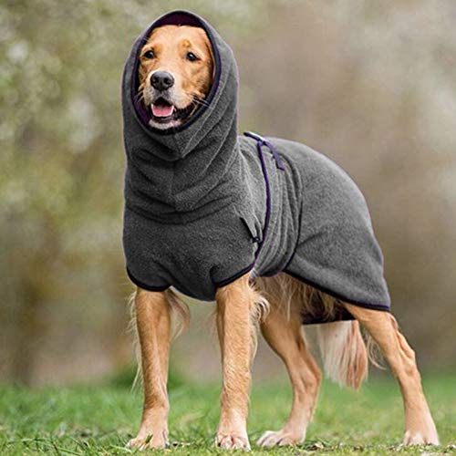 Lyperkin Cozy Warm Pet Jacket Small Dog Cold Weather Coat, Cute Pet Clothes Pet Dogs Thicken Warm Sweater (Dark Gray,5L)