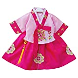 CRB Fashion Little Girls Toddler Korean Cultural Traditional Hanbok Outfit Dress Costume (3 to 4 Years Old,...