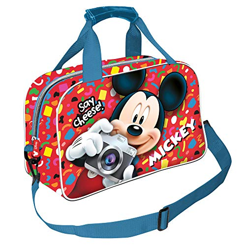 Karactermania Topolino Say Cheese-Borsa Sportiva Bolsa de Deporte Infantil 38 Centimeters Multicolor (Multicolour)