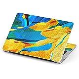 igsticker Macbook Pro 13inch 2020/19/18/17/16 専用スキンシール A1989 / A1706 / A1708 マックブック プロ 13インチ 専用シール フィルム ステッカー アクセサリー 保護 012168 黄色 青 絵画