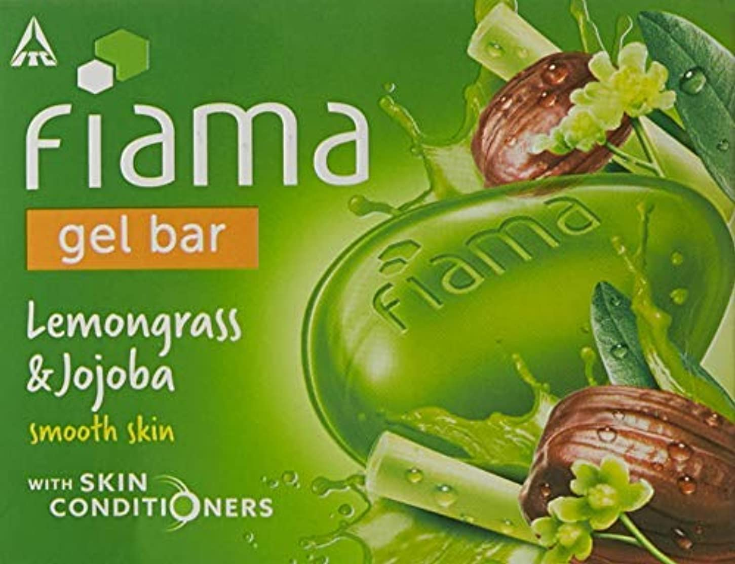 鬼ごっこ農業時Fiama Di Wills Lemongrass & Jojoba Gel Bar, 125g (Pack Of 3)