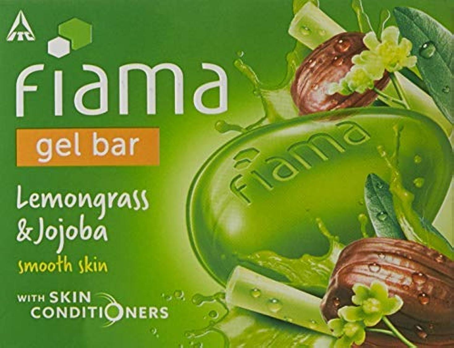続けるポータブル歩くFiama Di Wills Lemongrass & Jojoba Gel Bar, 125g (Pack Of 3)