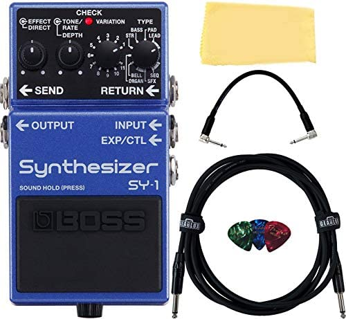 Boss SY 1 Synthesizer Guitar Pedal Bundle with Instrument Cable Patch Cable Picks and Austin product image