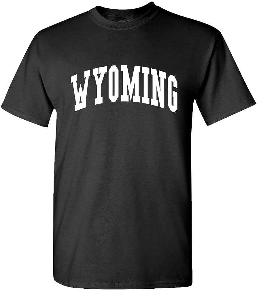 The Goozler Wyoming - USA America State Pride Patriotic - Mens Cotton T-Shirt