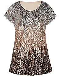 Silver/Rose Gold/Coffee Loose Bat Sleeve Party Tunic Tops