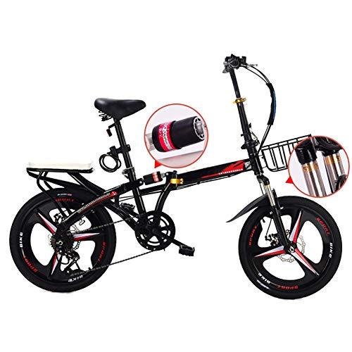 ZXYY Bicicletta Pieghevole City Bike Bicicletta Pieghevole per Adulti 16 Bicicletta Pieghevole per Adulti Bicicletta Pieghevole Bicicletta Pieghevole Leggera in Carbonio