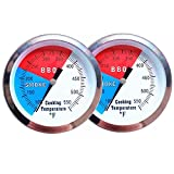 YOTOM BBQ Thermometer Gauge, 2 Pack Charcoal Grill Smoker Temperature Gauge Pit BBQ Grill Thermometer with...