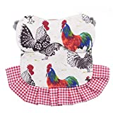 pranovo 2 Pack Standard Chicken Saddle Hen Apron Feather Fixer Wing Back Protector for Pou...