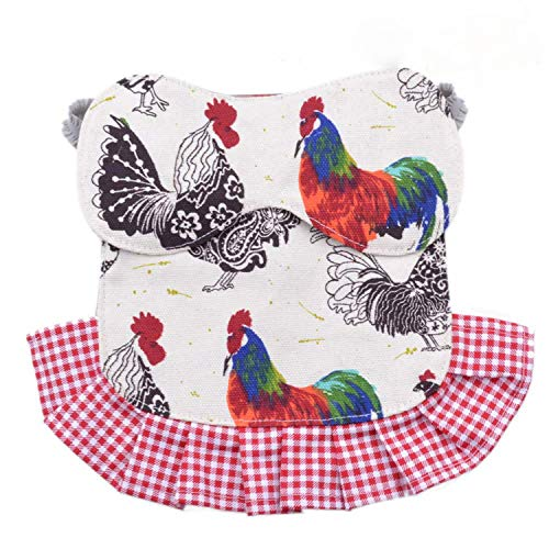 pranovo 2 Pack Standard Chicken Saddle Hen Apron Feather Fixer Wing Back Protector for Poultry (Protect Back and Wing)
