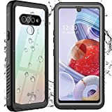 Nineasy for LG Stylo 6 Case Waterproof 5G, High Clarity Built-in Screen Protector Full Body Protective Heavy Duty Shockproof Clear IP68 Waterproof Case for LG Stylo 6 6.8inch