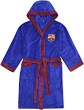 FC Barcelona - Herren Fleece-Bademantel mit Kapuze - offizielles Merchandise Fußballfans