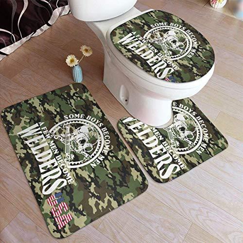 Ik ben een lasser, Badass Lassen Deurmat Tapijt Sets (3 stks) Keukentapijten 3-Delige Tapijt Badkamer Tapijt Set Toiletbril Cover Combo