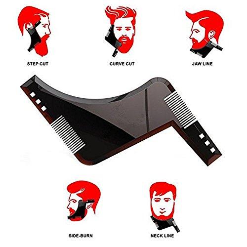 MZP Beauty Gesichtshaar-Haarlinie Der Männer Perfekte Symmetrische Linien Und Trimmen Mit Bart-Trimmer-Haarscherer Oder -Rasiermesser.