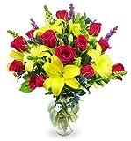 Benchmark Bouquets Joyful Wishes, With Vase (Fresh Cut Flowers)