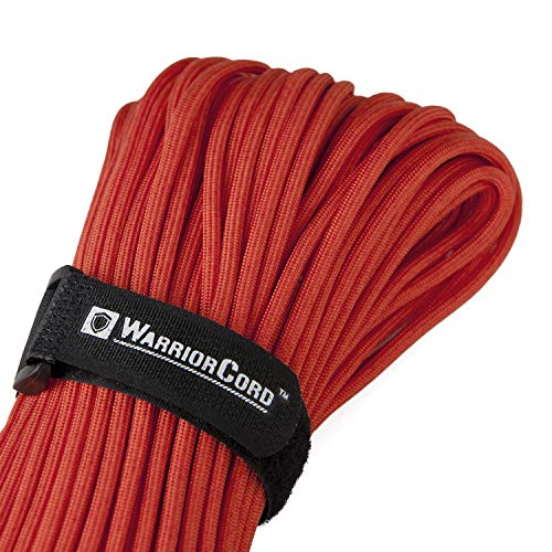 Titan WarriorCord | RED | 103 Continuous FEET | Exceeds Authentic MILC5040 Type III 550 Paracord Standards 7 Strand 5/32quot 4mm Diameter Military Parachute Cord