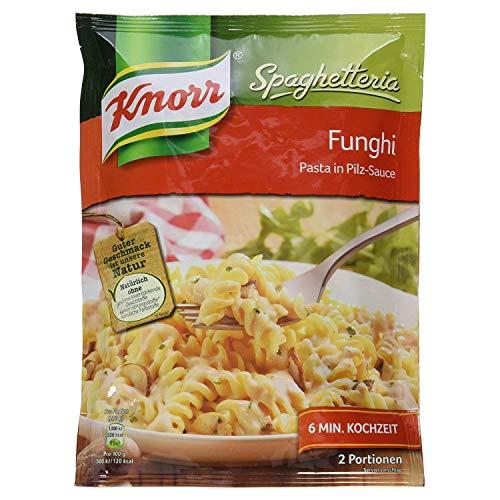 Knorr Spaghetteria Funghi Nudel-Fertiggericht Pasta in Pilz-Sauce, 150 g 2 Portionen