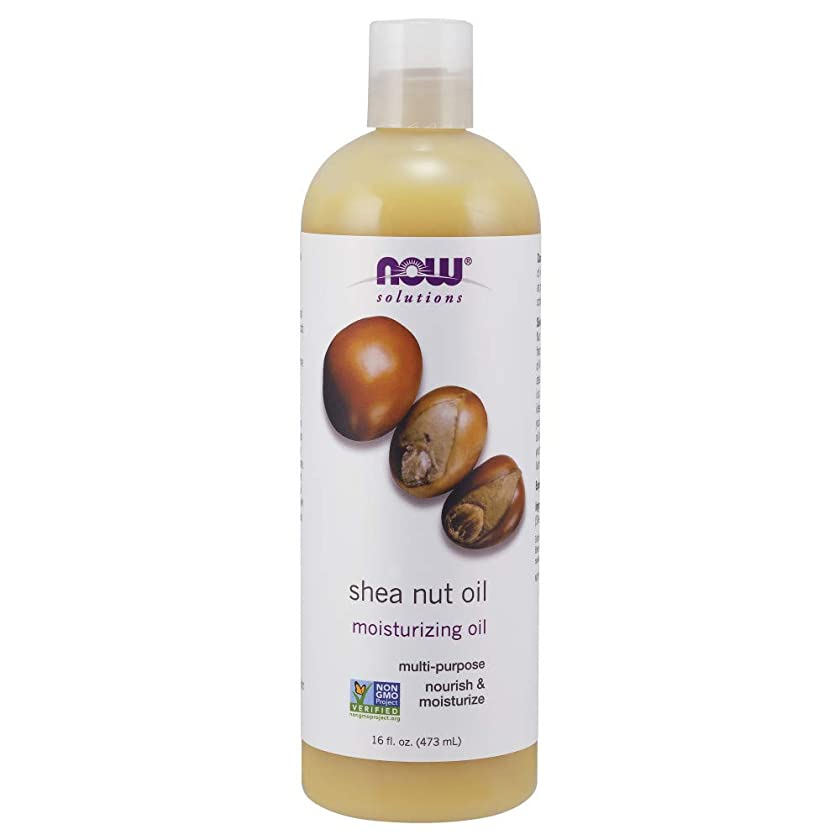 Now Solutions, Shea Nut Oil, Multi-Purpose Intense Moisturizing Oil for Skin, Scalp and Hair, 16-Ounce