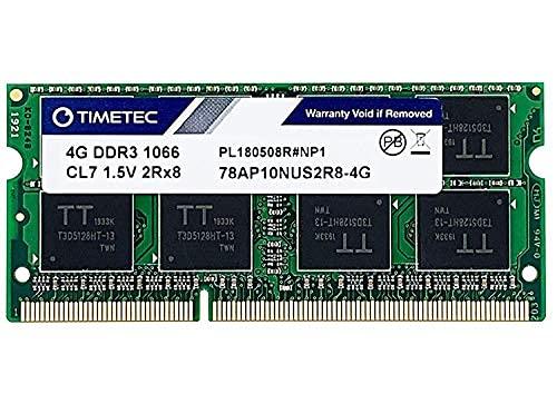 Timetec Hynix IC compatible con Apple 4GB DDR3 PC3-8500 1066MHz Actualización de memoria para iMac, MacBook Pro, Mac mini (4GB) seleccionados