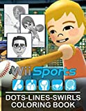 Wii Sports Dots Lines Swirls Coloring Book: Wii Sports Beautiful Simple Designs Activity Dots-Lines-Swirls Books For Kids And Adults