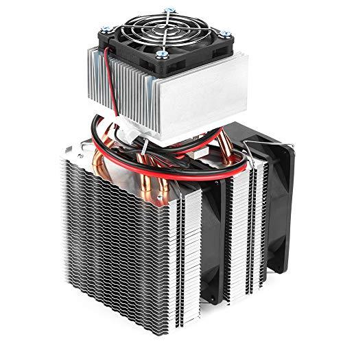 Tomantery Thermoelektrischer Kühler, Halbleiterkühler Mini-Kühlschrank DIY mit 6x6cm Lüftergröße für Mini-Klimaanlage für Kühlgerät für Haustiere zum Herstellen eines kleinen Kühlschranks