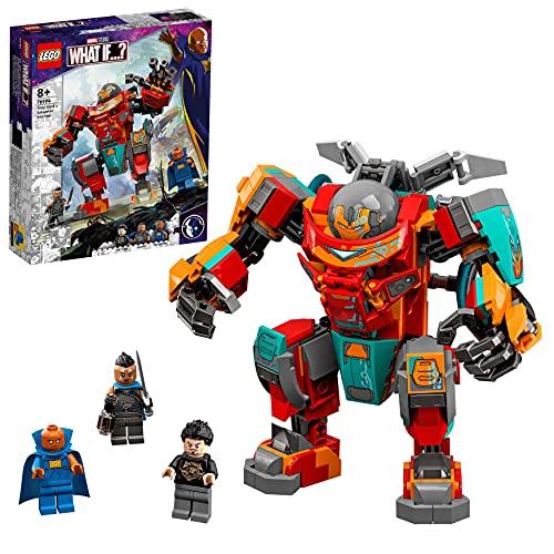 LEGO 76194 Marvel Tony Starks sakaarianischer Iron Man, Action-Figur mit Transformer-Spielzeugauto für Kinder ab 8 Jahren