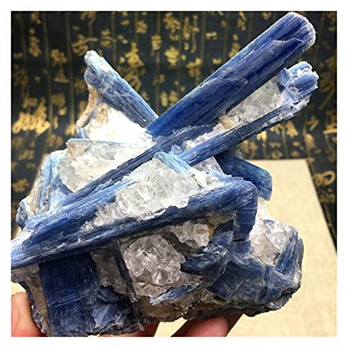 YSJJDRT Cristal Natural Rugoso 700 g de Cristal Azul Raro Naturaleza kyanite áspero Piedras Preciosas de Piedra de Piedra de Piedra Mineral curativo