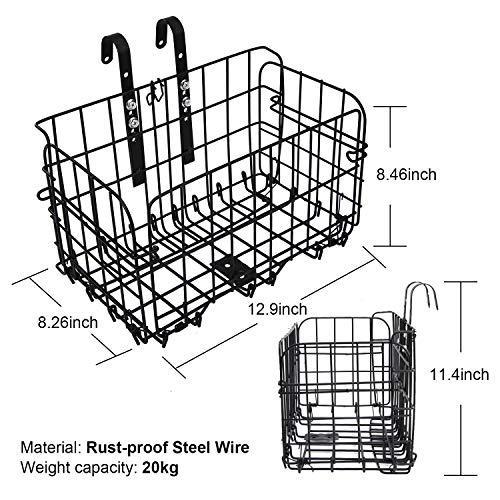 Karcle Detachable Folding Bicycle Basket Heavy Load