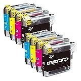 GreenOffice Brother LC11-8PK ブラザー互換インクカートリッジ お得の8本マルチパック 大容量タイプ 対応機種: DCP-165C MFC-490CN MFC-670CD MFC-6890CN MFC-930CDN MFC-J700DW MFC-J855DN