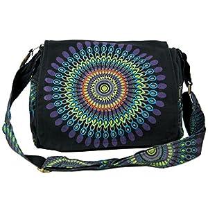 GURU SHOP Bolso de Hombro, Bolso Hippie, Bolso Goa - Marrón, Unisex - Adultos, Algodón, 23x28x12 cm, Bolsas de Hombro | DeHippies.com